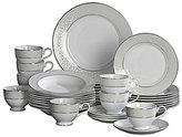 Mikasa Parchment Ivy Scroll Platinum Porcelain 40-Piece China Set