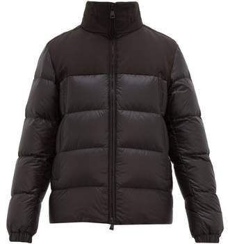 Moncler Faiveley Embossed Logo Quilted Down Coat - Mens - Black