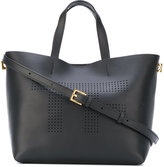Tom Ford perforated branded tote - women - Calf Leather/Polyamide/Polyurethane - One Size