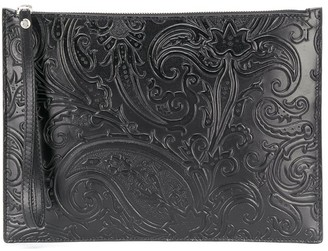 Etro Paisley Embossed Clutch Bag