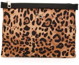 Dolce & Gabbana Leopard Printed Clutch Bag