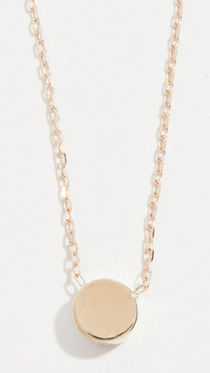 Adina 14k Gold Super Tiny Disc Necklace