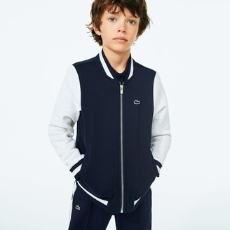 Lacoste Boys Full-Zip Colorblock Varsity Jacket