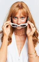 MUMU Crap Eyewear ~ The Wild Gift ~ Gloss White with Grey Lenses