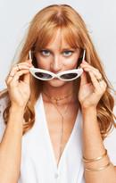 MUMU Crap Eyewear ~ The Wild Gift ~ Gloss White with Grey Lenses