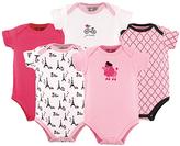 Luvable Friends Pink & White French Poodle Bodysuit Set - Infant