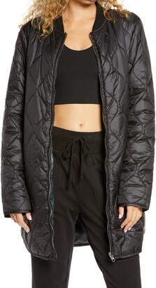 Zella Reversible Quilted Long Jacket