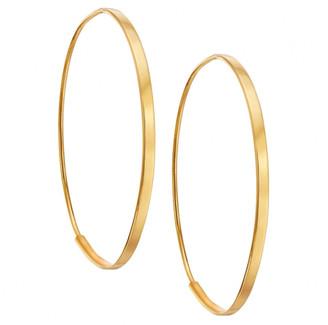 Lana 14k Small Flat Magic Hoop Earrings