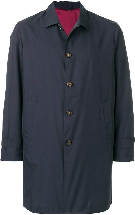 Eleventy button-down fitted coat