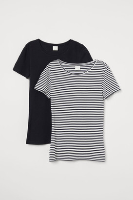 H&M 2-pack cotton T-shirts