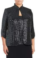 Alex Evenings Plus Two-Piece Shimmering Jacket & Camisole Set