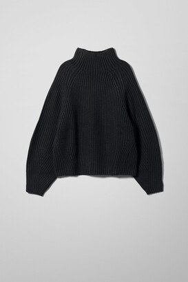 Weekday Angel Mockneck Sweater - Black