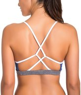 CRZ YOGA Women's Light Support Cross Strappy Back Feminine Yoga Sports Bra XS