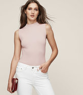 Reiss New Collection Charlie High-Neck Ribbed-Knit Tank Top
