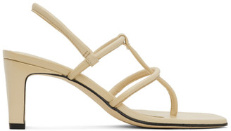 Dorateymur Beige Thong Heeled Sandals