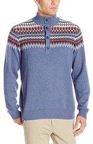 Izod Men's Saltwater Button Mock Neck Sweater