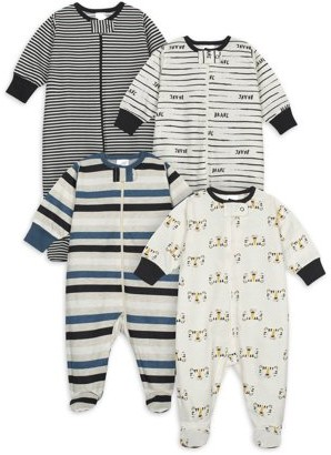 Onesies Brand Baby Boy Sleep 'N Play Pajamas, 4-Pack