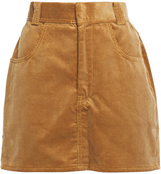 RE/DONE Cotton-corduroy Mini Skirt