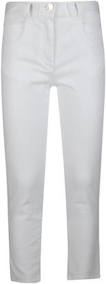 Balmain White Cotton Jeans