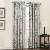 Sun Zero Sun ZeroTM Emory Printed Floral Room-Darkening Rod-Pocket Curtain Panel