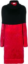 Maison Margiela two-tone turtleneck dress
