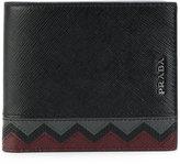 Prada chevron detail horizontal wallet