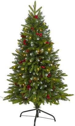 Nearly Natural 4ft. Snow Tipped Portland Spruce Artificial Christmas Tree