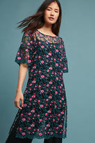 Moulinette Soeurs Floral Embroidered Mesh Tunic