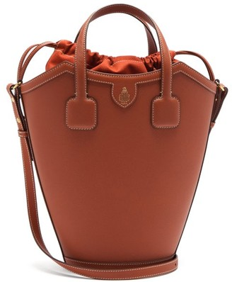Mark Cross Madeline Saffiano-leather Bucket Bag - Orange