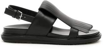 Marni Fringed Flap Buckle Sandals