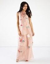 Hope & Ivy Floral Embroidery Maxi Dress
