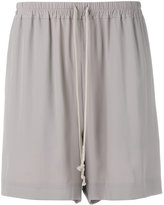 Rick Owens pleated shorts - women - Silk/Acetate - 38