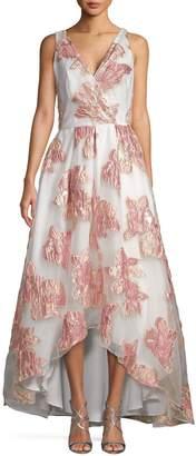 Carmen Marc Valvo Floral High-Low Gown