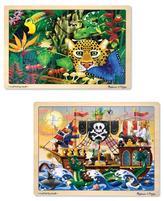 Melissa & Doug Jigsaw Bundle 48 piece - Boy (2 Puzzle Bundle)
