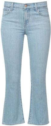 J Brand Selena Mid Rise Cotton Blend Denim Jeans