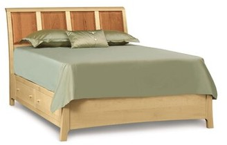 Sarah Solid Wood Storage Platform Bed Copeland Furniture Size: California King, Color: Autumn Cherry