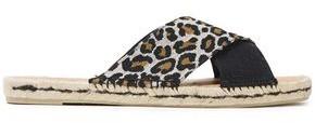Castaner Paloma Leopard-print Jacquard And Canvas Espadrille Slides