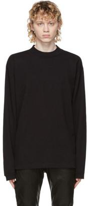 John Elliott Black 900 Mock Neck Long Sleeve T-Shirt