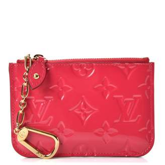 Louis Vuitton Key Pouch Monogram Vernis Hot Pink