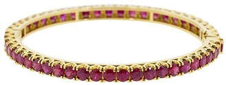 Bayco 18kt Yellow Gold Ruby Bangle