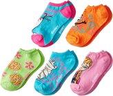"""Disney Frozen Girls' """"Summer Love"""" 5-Pack Ankle Socks - , 6 - 8.5 / 2 - 6 years"""