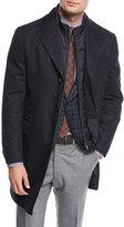 Corneliani Storm System Wool-Blend Topcoat