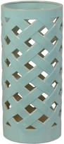 The Well Appointed House Crisscross Umbrella Stand/Vase in Turquoise-ON BACKORDER UNTIL AUGUST 2016