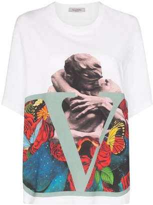 Valentino x Undercover oversized lover and logo-print T-shirt