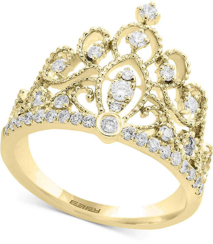 Effy D'oro by Diamond Crown Statement Ring (3/8 ct. t.w.) in 14k Gold