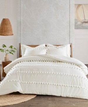 Madison Home USA Leona King/California King 3-Pc. Pom Pom Cotton Comforter Set Bedding