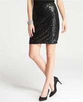 Ann Taylor Petite Sequin Mini Skirt
