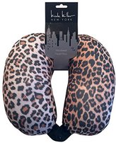 Nicole Miller Micro Bead Travel Pillow / Neck Support Pillow (Leopard Print)