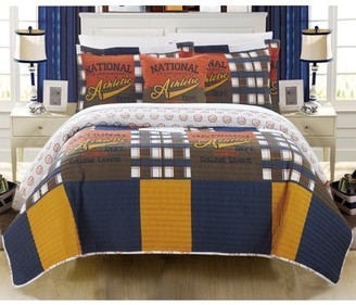 Chic Home Cousy 4 Piece Reversible Quilt Set Print Athletic Youth Design