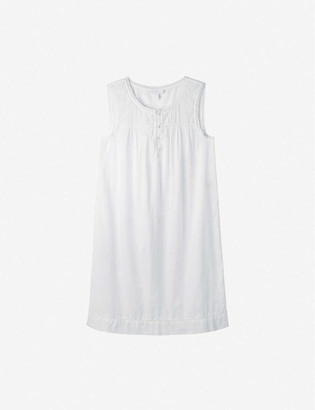 The White Company Embroidered pintuck cotton night dress